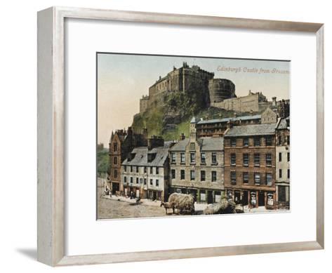 Edinburgh Castle from the Grassmarket--Framed Art Print