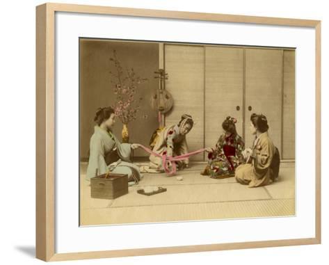 Four Geishas Together--Framed Art Print