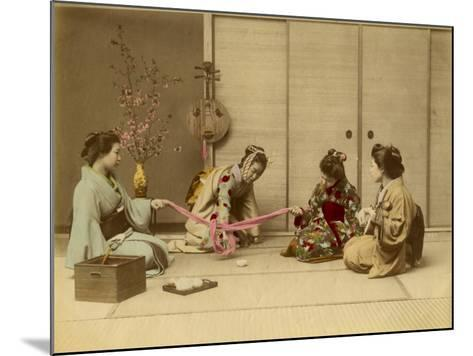 Four Geishas Together--Mounted Photographic Print