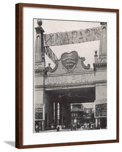 Entrance to the Luna Park on Coney Island, New York, America--Framed Art Print