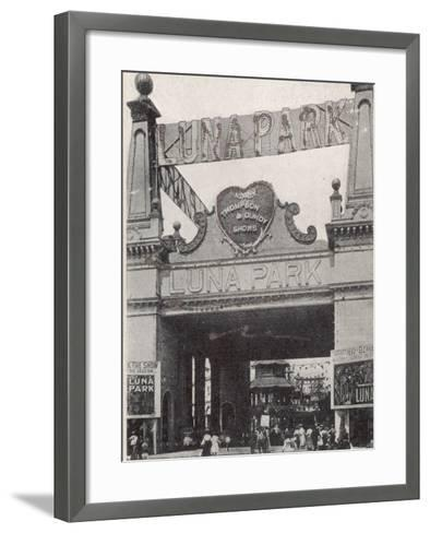 Entrance to the Luna Park on Coney Island, New York, America--Framed Art Print