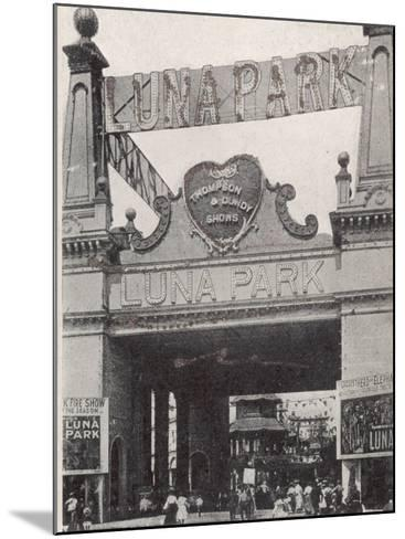 Entrance to the Luna Park on Coney Island, New York, America--Mounted Photographic Print