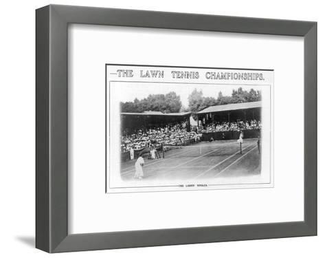 Ladies' Singles Match on Centre Court at Wimbledon--Framed Art Print