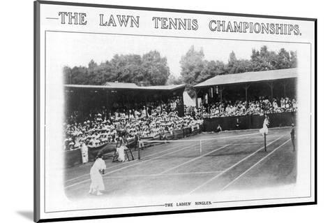 Ladies' Singles Match on Centre Court at Wimbledon--Mounted Photographic Print