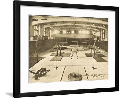 London Central YMCA Gymnasium--Framed Art Print