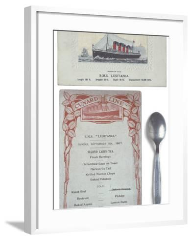 Lusitania Menu--Framed Art Print