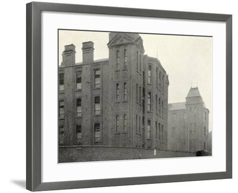 Infirmary Ward Blocks at Hackney Union Workhouse on Homerton High Street-Peter Higginbotham-Framed Art Print
