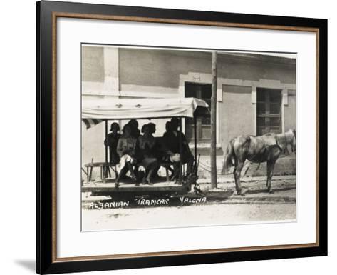 Albania - Vlore - a Horse-Drawn Tram--Framed Art Print