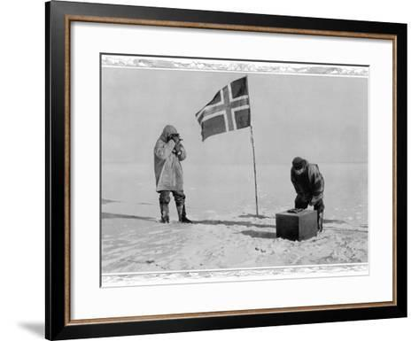 Amundsen Antarctic Expedition at the South Pole, 1911--Framed Art Print