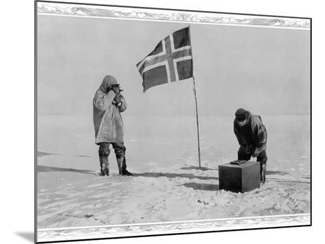 Amundsen Antarctic Expedition at the South Pole, 1911--Mounted Photographic Print