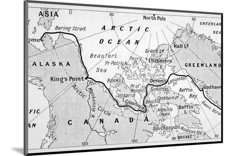 A Map Showing the Route of Amundsen's Voyage Through the North-West Passage--Mounted Photographic Print