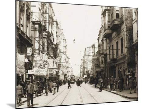 A Street in Beyoglu, Istanbul--Mounted Photographic Print