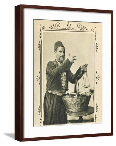 A Pistachio Nut Seller from Izmir (Smyrna), Turkey--Framed Art Print