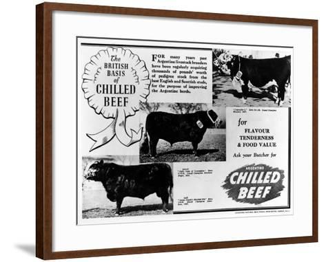 Advertisement by the Argentine Meat Board--Framed Art Print