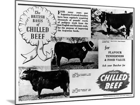 Advertisement by the Argentine Meat Board--Mounted Photographic Print