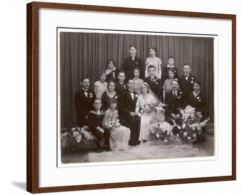 A Formal Wedding Photo - with All the Family Involved--Framed Art Print