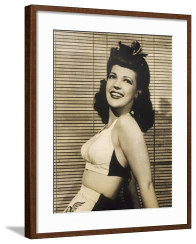 40s Hair Style and Bikini--Framed Art Print