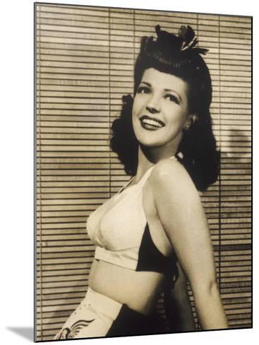 40s Hair Style and Bikini--Mounted Photographic Print