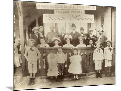 Argentina - Hamburger German Bier Halle--Mounted Photographic Print