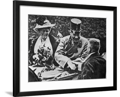 Archduke Franz Ferdinand and His Wife Sophie-Robert Hunt-Framed Art Print