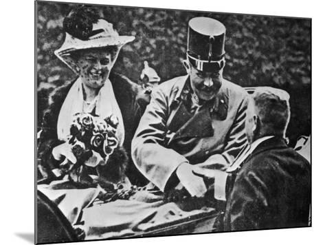 Archduke Franz Ferdinand and His Wife Sophie-Robert Hunt-Mounted Photographic Print
