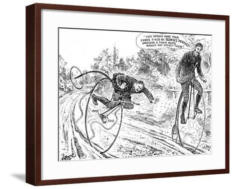 Advertisement for Bown's 'Perfect' Process for Bicycle Tyres--Framed Art Print
