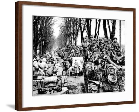 British Infantry and Tanks, Reichswald; World War Two, 1945--Framed Art Print