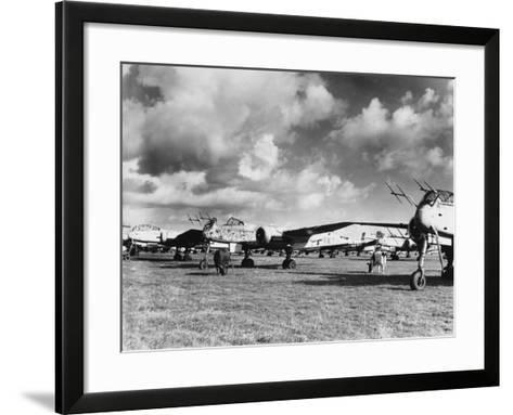 Captured Heinkel 219S--Framed Art Print