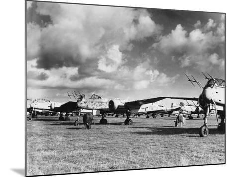 Captured Heinkel 219S--Mounted Photographic Print