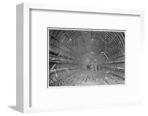 Blackwall Tunnel Interior of the Tunnel During Construction--Framed Art Print