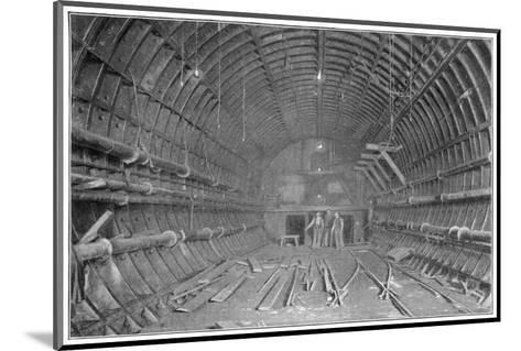 Blackwall Tunnel Interior of the Tunnel During Construction--Mounted Photographic Print
