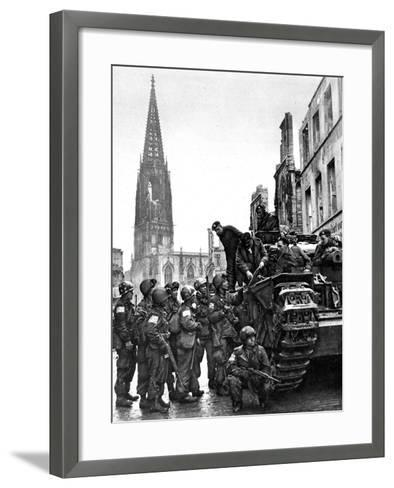 British and American Troops in Munster, Second World War--Framed Art Print