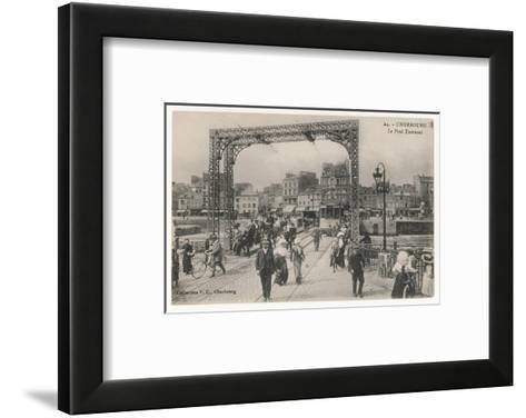 Cherbourg: the Swing Bridge--Framed Art Print