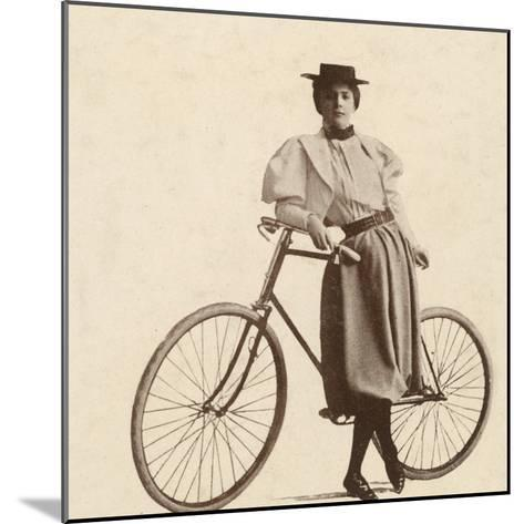 Cycling Outfit of 1890s--Mounted Photographic Print