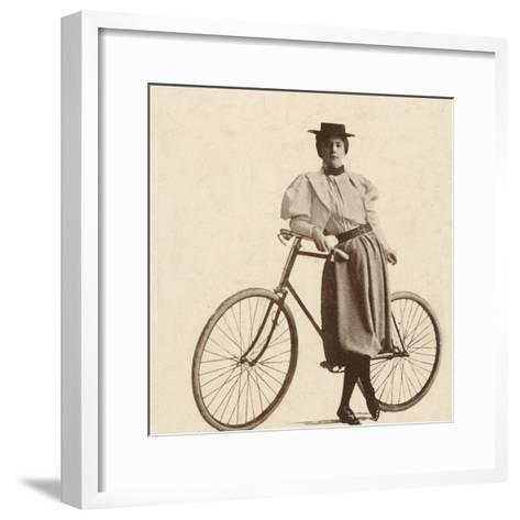 Cycling Outfit of 1890s--Framed Art Print