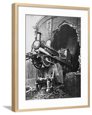 Dublin Train Crash--Framed Art Print