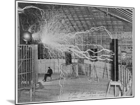 Nikola Tesla Produces Artificial 'Lighting'--Mounted Photographic Print