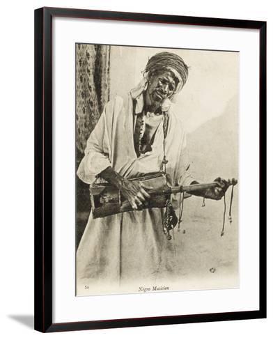 A Black Algerian Musician--Framed Art Print