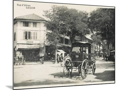 Adran Street - Saigon with Horse Cab--Mounted Photographic Print