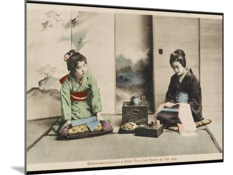 A Japanese Lady and Her Maidservant--Mounted Photographic Print