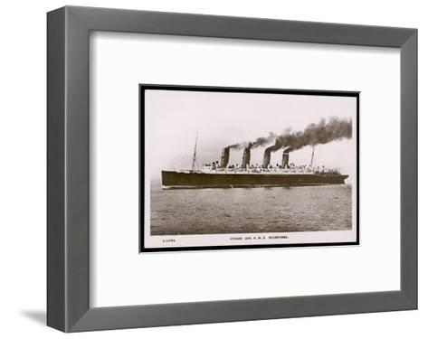 Cunard Line R.M.S. Mauretania--Framed Art Print