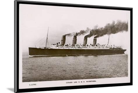 Cunard Line R.M.S. Mauretania--Mounted Photographic Print