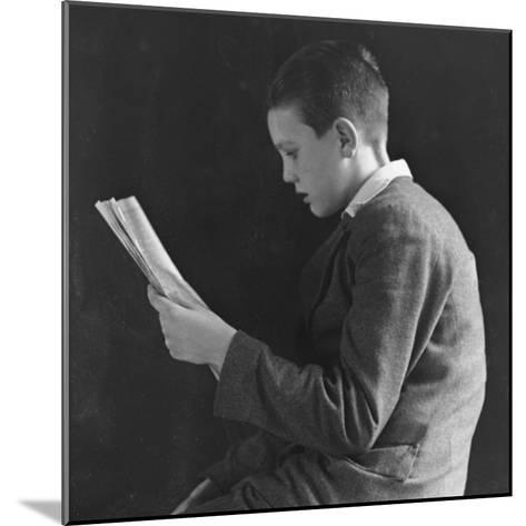 Boy Reading, Photographic Portrait 1936--Mounted Photographic Print
