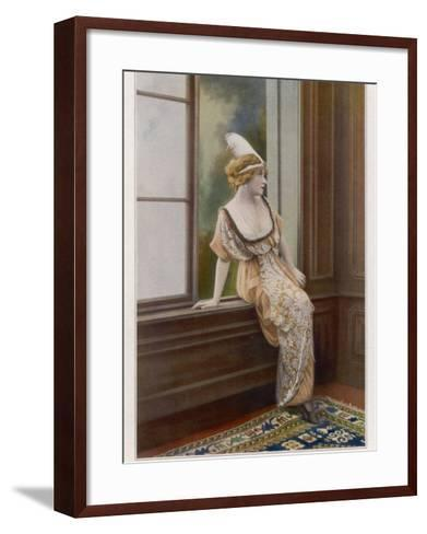 Mlle Yane's Gown 1913--Framed Art Print