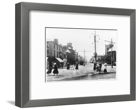 Lord Street Fleetwood Lancashire--Framed Art Print