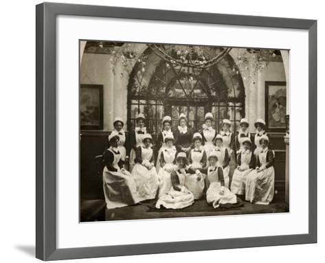 Laundry Staff at Whittingham Asylum, Near Preston, Lancs-Peter Higginbotham-Framed Art Print