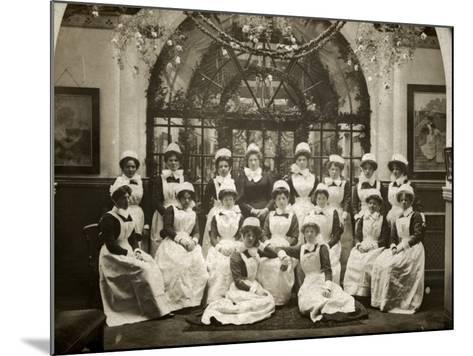 Laundry Staff at Whittingham Asylum, Near Preston, Lancs-Peter Higginbotham-Mounted Photographic Print