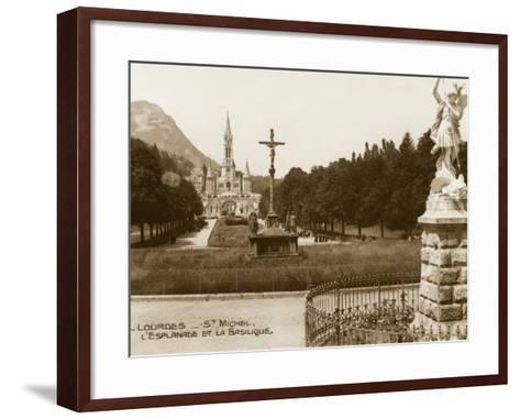 Lourdes - Statue of St. Michael--Framed Art Print