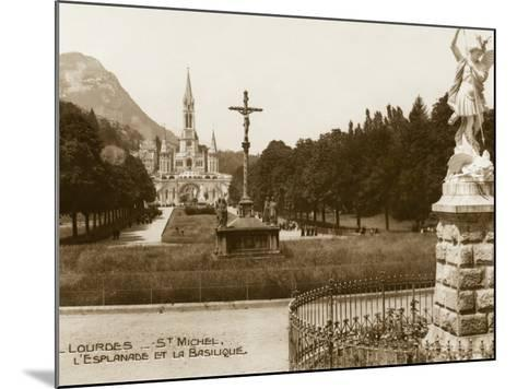 Lourdes - Statue of St. Michael--Mounted Photographic Print