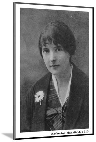 Katherine Mansfield 1--Mounted Photographic Print